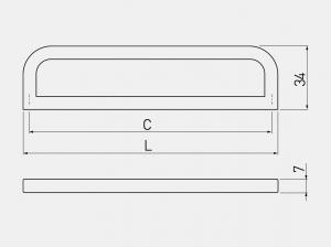 Maner mobila PADWA 192 mm, otel periat [1]
