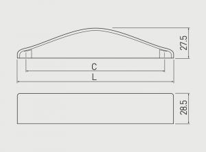Maner mobila AGIOS 128 mm, cromat [3]