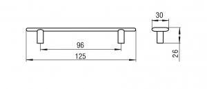 Maner antichizat LINGURA 96 mm, Alama 1052-1261
