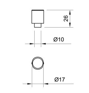 Buton mobila WPO784 17x26 mm, Negru Antic1