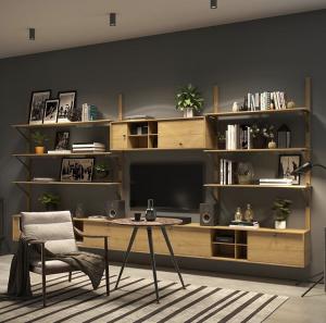 Set 4 picioare pentru birou, gama X-Line, ajustabile, H 820 mm, Negru Mat [1]