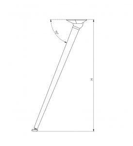Set 4 picioare masa, gama X-Line, ajustabile, H 710 mm, Crom4