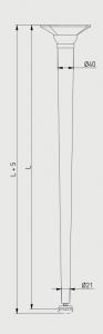 Set 4 picioare masa, gama X-Line, ajustabile, H 710 mm, Crom3