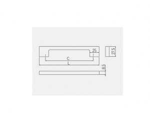 Maner mobila ZAMAK 128 mm, alb mat [1]