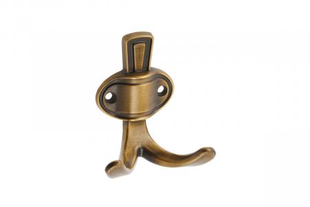 Agatatoare cuier CORUNA M 76x68 mm, 2 agatatori, maro antichizat [0]