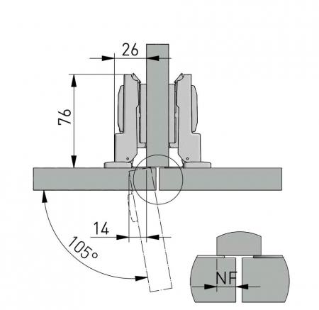 Balama semiaplicata cu amortizare GTV, neagra [2]