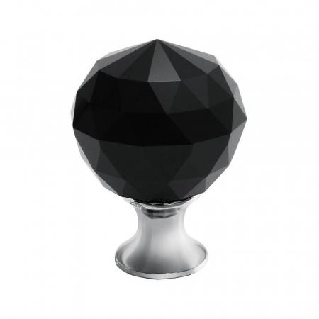 Buton mobila Crystal Palace 30x44 mm, negru0