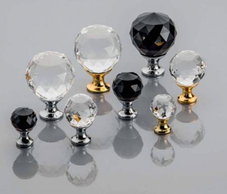 Buton mobila Crystal Palace 30x44 mm, negru1
