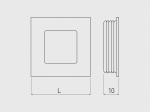 Buton mobila ingropat B226, 40x40 mm, negru mat1