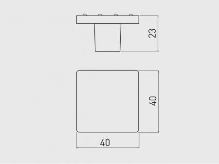 Buton mobila IZIS 40x23 mm, cromat [1]