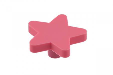 Buton mobila copii Star 50x48 mm, roz [0]