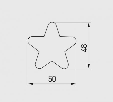 Buton mobila copii Star 50x48 mm, roz [1]