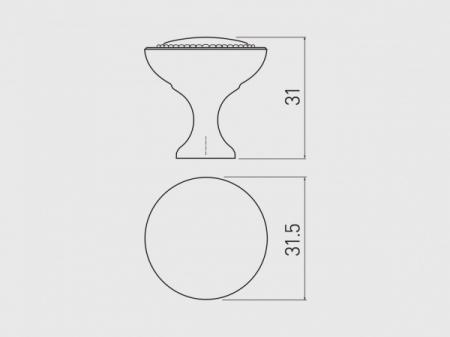 Buton mobila IMPERIA 31x31 mm, titan [1]