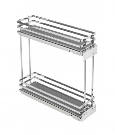 Cos Jolly MOVIXPRO cromat pentru corp mobilier de 200 mm, glisiera laterala cu amortizare [0]