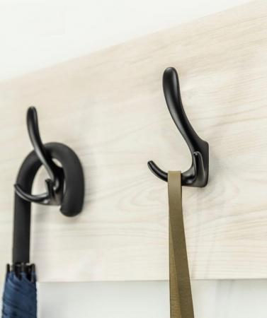 Agatatoare cuier CORDOBA 78x130 mm, 3 agatatori, negru mat [1]