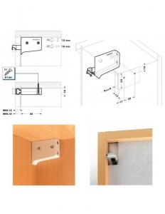 Element suspendare corp mobilier, set 2 buc, 50 kg, alb [2]