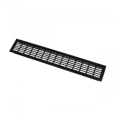 Grila ventilatie aluminiu, 480x80 mm, negru mat0