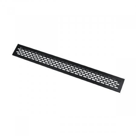 Grila ventilatie aluminiu, 484x60 mm, negru mat0