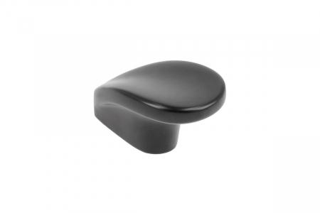 Buton mobila VENICE 28x46 mm, negru mat [0]