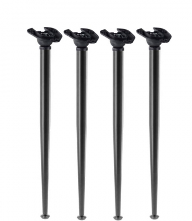 Set 4 picioare pentru birou, gama X-Line, ajustabile, H 870 mm, Negru Mat [0]