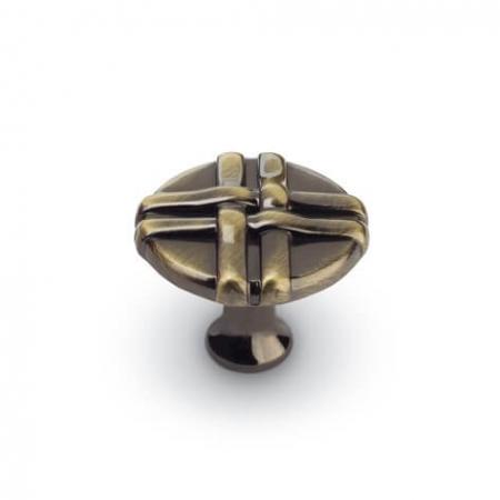 Buton mobila K100 34x27 mm, alama antichizata [0]