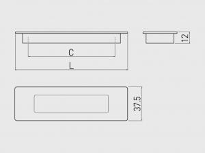 Maner mobila ingropat E6 96 mm, aluminiu [1]