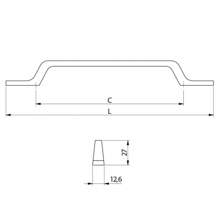 Maner mobila FLAVIO 160 mm, cromat [1]