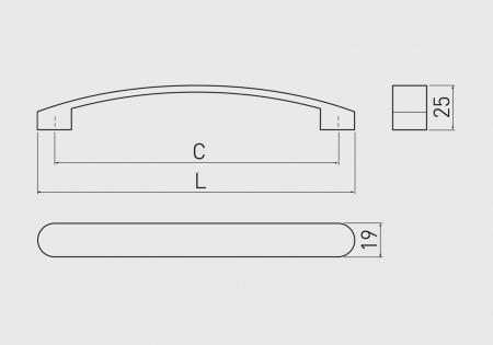 Maner mobila GENUA 128 mm, aluminiu [1]