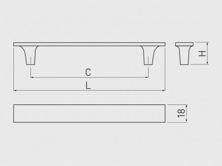 Maner mobila LUCCA 128 mm, cromat [2]