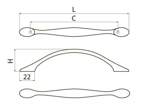 Maner mobila Camaio 96 mm, negru crom2