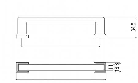 Maner mobila DR60 96 mm, cupru antichizat [1]
