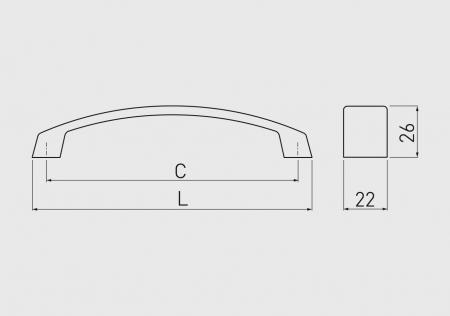 Maner mobila G1 160 mm, titan2