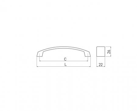Maner mobila G1 128 mm, negru mat [2]