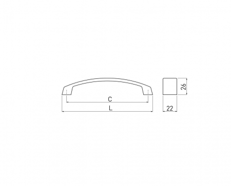 Maner mobila G1 192 mm, negru mat [2]