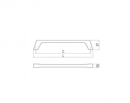 Maner mobila G2 160 mm, negru mat [1]