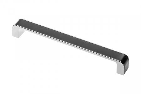 Maner mobila MONA 128 mm, negru crom [0]