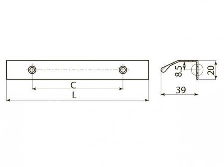 Maner mobila TREX 150 mm, aluminiu [2]