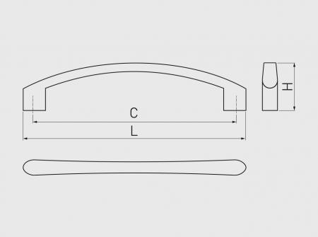 Maner mobila VARES 192 mm, cromat [2]
