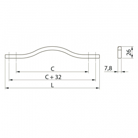 Maner mobila VITO 160 mm, cromat [1]