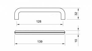 Maner mobila WMN784 128 mm, Negru Antic [2]