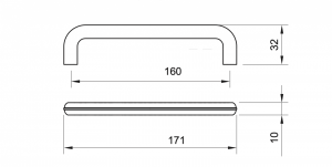 Maner mobila WMN784 160 mm, Negru Antic2