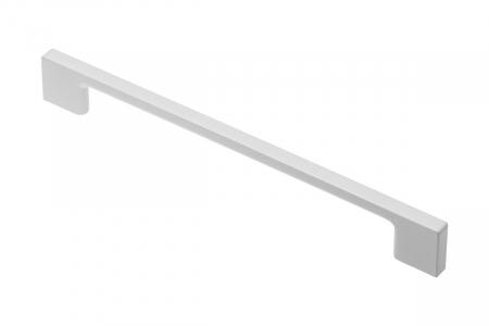 Maner mobila Zamak 192 mm, alb mat0