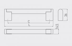 Maner mobilier UZ-336, otel periat, 480 mm2