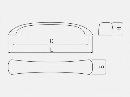 Maner mobila SIENNA 128 mm, cromat [2]