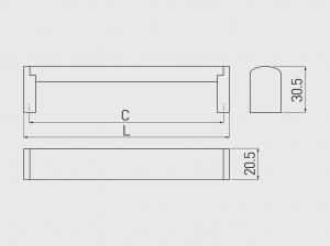 Maner mobila UZ-682 128 mm, otel periat [2]
