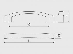 Maner mobila VASTO 128 mm, alama antichizata1
