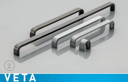 Maner mobila Shape Art VETA 128 mm, negru crom [1]
