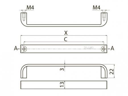 Maner mobila Shape Art VETA 128 mm, cromat [3]