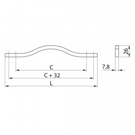 Maner mobila VITO 288 mm, negru mat [2]