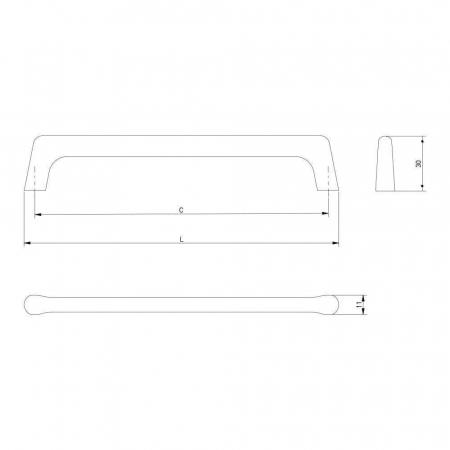 Maner mobila OCTAVIO 128 mm, otel periat [3]